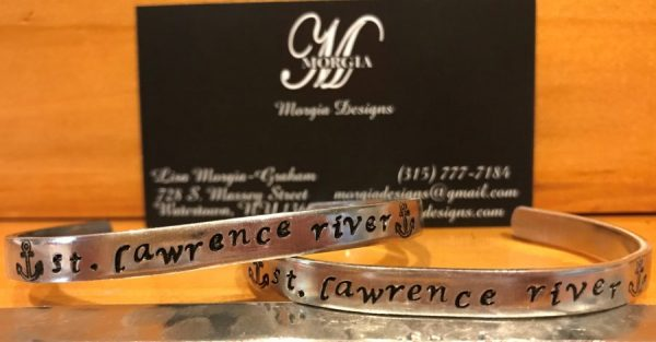 """St. Lawrence River"" bracelet with anchors on Shop Where I Live"